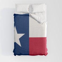 Texas: State Flag of Texas Duvet Cover