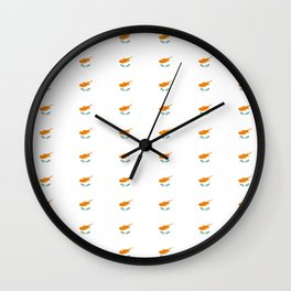 flag of cyprus – cypriot,cypriote,cyprian, Κύπρος,nicosia. Wall Clock