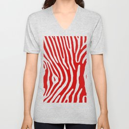 Red Zebra Unisex V-Neck