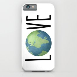 Love The Earth iPhone Case