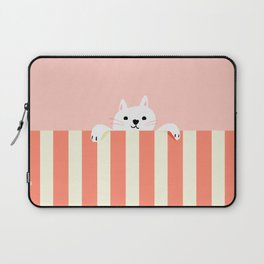 Abstraction_Little_Cat_Cute_Minimalism_001 Laptop Sleeve