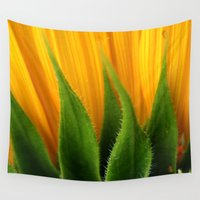 sunflower Wall Tapestries featuring Sunflower  by TDSWHITE