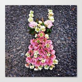 dress of pink clover Canvas Print