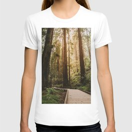 Muir Woods   California Redwoods Forest Nature Travel Photography T-shirt