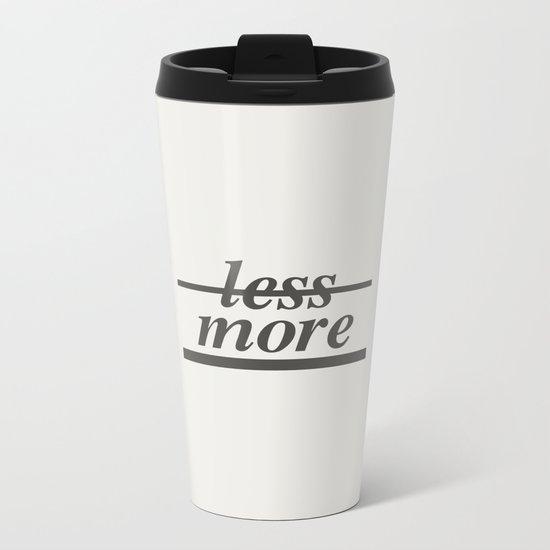 Typography Metal Travel Mug