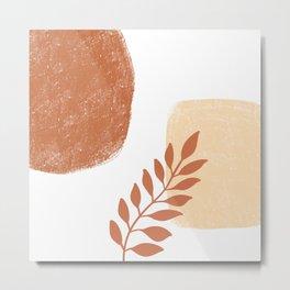 Rusty Leaves Metal Print