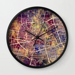 Leeuwarden Netherlands City Map Wall Clock