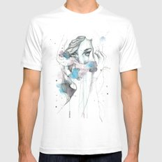 Scarf Mens Fitted Tee White MEDIUM
