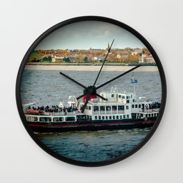 FERRY CROSSING THE RIVER MERSEY, LIVERPOOL Wall Clock