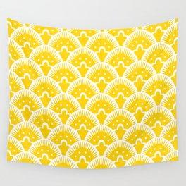 Fan Pattern Yellow 201 Wall Tapestry