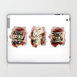 3 owl red Laptop & iPad Skin