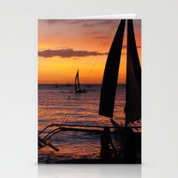 philippines Stationery Cards featuring Borocay Sunset Philippines by brokentoph