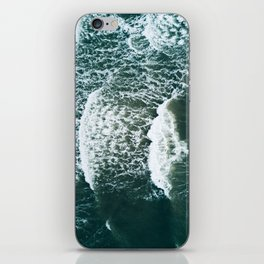 Wavy Waves on a stormy day iPhone Skin
