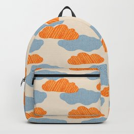 Textured Clouds on Buttercream Background Backpack