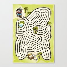 Pirate Treasure Maze Canvas Print