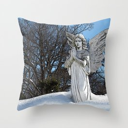Consoling Angel • Sunshine Throw Pillow