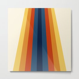 Bright 70's Retro Stripes Metal Print