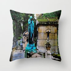 The Lady Weeps Throw Pillow