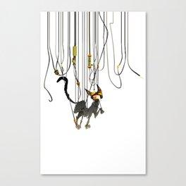 """Lili B. """"Entangled cat"""" Canvas Print"""