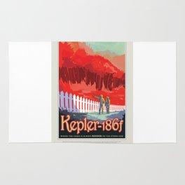 Kepler-186f - NASA Space Travel Poster Rug