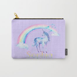 Purple Unicorn Carry-All Pouch
