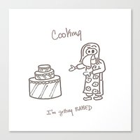 cooking Canvas Prints featuring Cooking by Clifford Allen