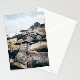 Rocky beach; ocean sea beach rocks landscape photography South America travel photoraphy art print Stationery Cards