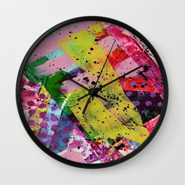 Nordic art, abstract print, abstract painting, abstract art print, abstract wall art, pink and blue Wall Clock