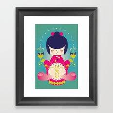 Nacer / Born Framed Art Print