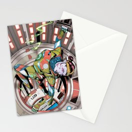 Cera closes the hatch Stationery Cards
