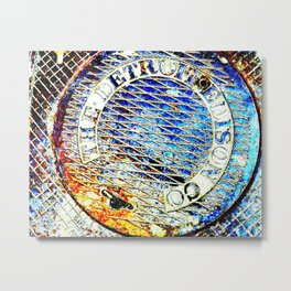 Detroit Edison Manhole Cover Art Metal Print