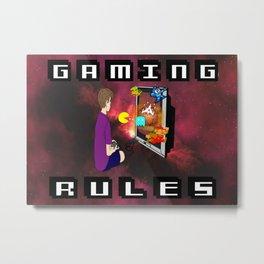 Gaming Rules Metal Print
