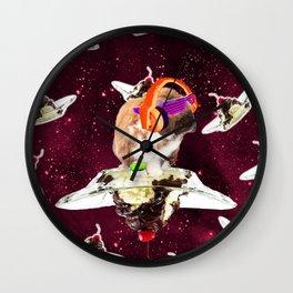 Rave Bunny Rabbit On Sundae In Space Wall Clock