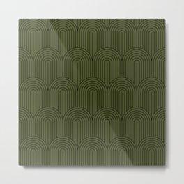 Art Deco Arch Pattern VIII Metal Print