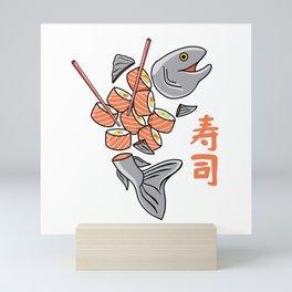 Salmon Sushi Mini Art Print