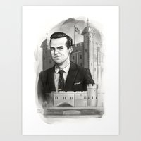 moriarty Art Prints featuring Moriarty by RileyStark