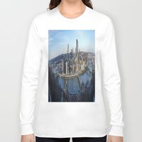 pittsburgh Long Sleeve T-shirts featuring PITTSBURGH CITY by Stephanie Bosworth