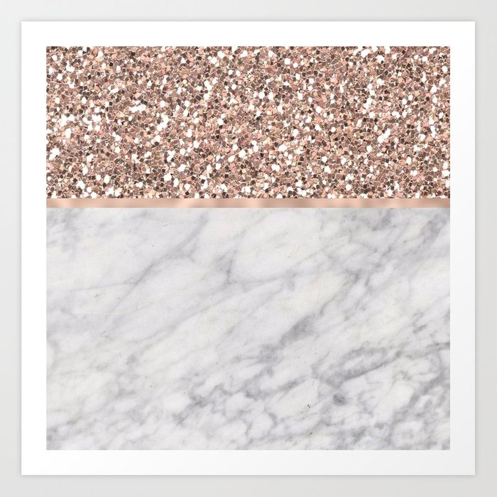 Epicurious rose gold marble Kunstdrucke