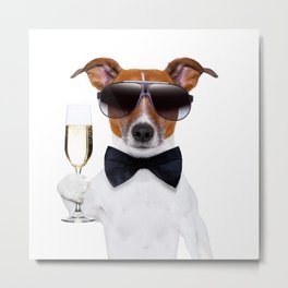 Mr.Dog Metal Print