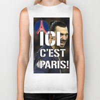 zlatan Biker Tanks featuring Ici c'est Paris! colors urban fashion culture Jacob's 1968 Paris Agency for Zlatan psg supporters by Jacob's 1968
