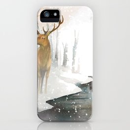 snowing forest iPhone Case