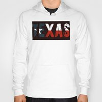 texas Hoodies featuring Texas, Too by Kam Minatrea