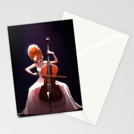 The Cello Player Stationery Cards