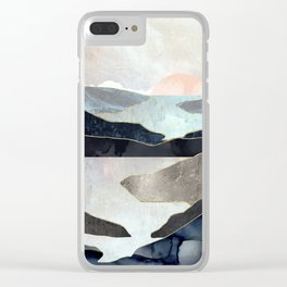 Blue Mountain Lake Clear iPhone Case