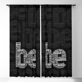 be Motivational Words Typography Quote Blackout Curtain