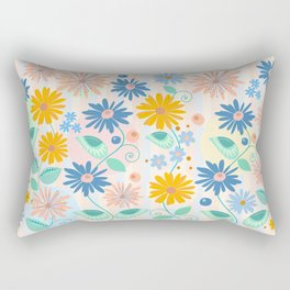 Decorative flowers and leaves Rectangular Pillow