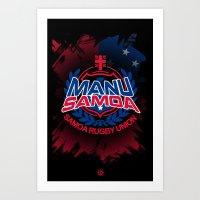 Manu Samoa Art Print