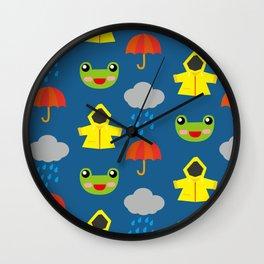 rainy days (Children's pattern) Wall Clock