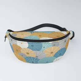 Sea Urchins in Blue + Gold Fanny Pack