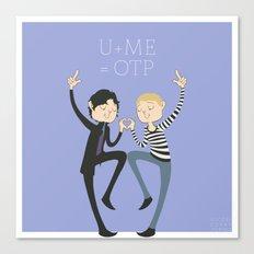 U + ME = OTP Canvas Print